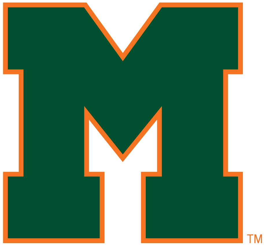 Miami Hurricanes 1940-1964 Primary Logo iron on sticker