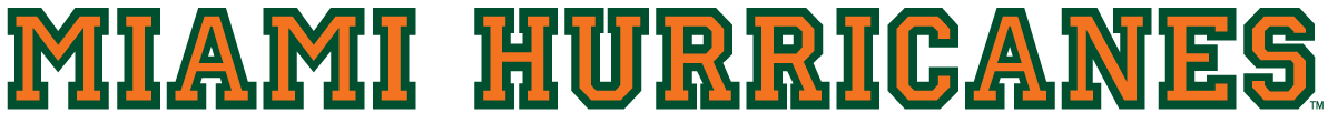 Miami Hurricanes 1940-1971 Wordmark Logo 01 iron on sticker