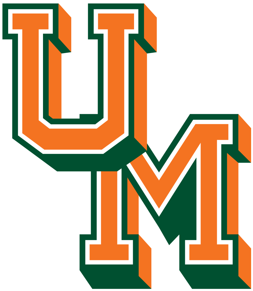 Miami Hurricanes 1965-1971 Primary Logo iron on sticker