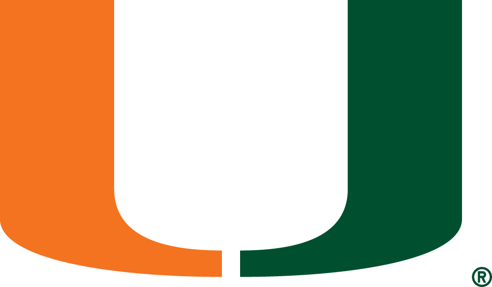 Miami Hurricanes 1972-Pres Primary Logo iron on sticker
