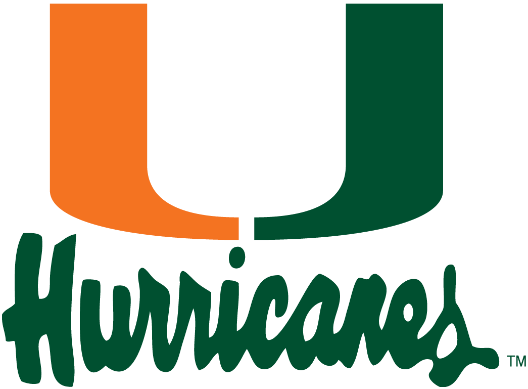 Miami Hurricanes 1979-1999 Alternate Logo iron on sticker