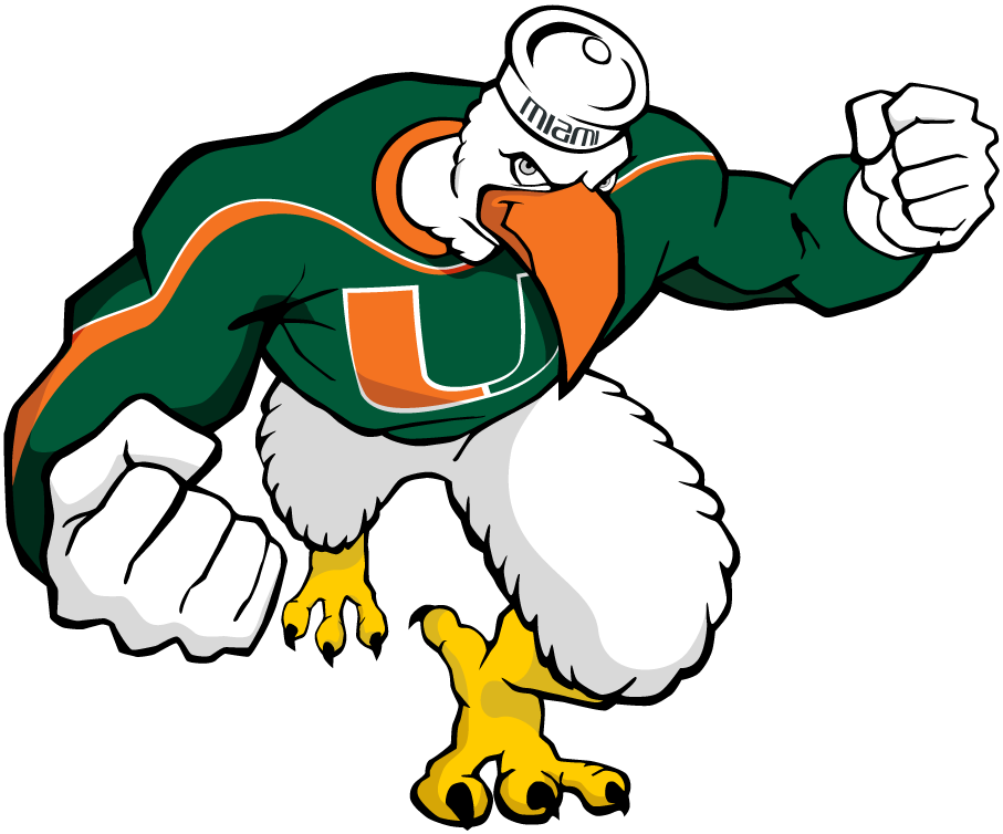 Miami Hurricanes 2000-2005 Mascot Logo iron on sticker