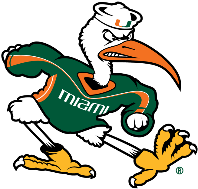 Miami Hurricanes 2000-Pres Mascot Logo iron on sticker
