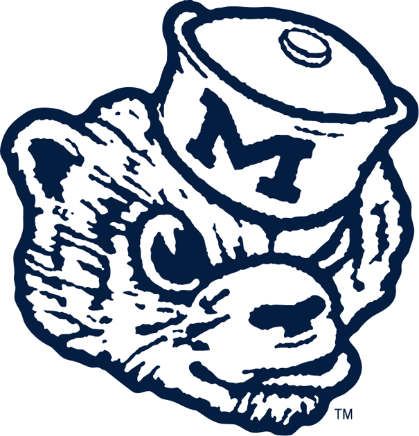 Michigan Wolverines 1948-1963 Primary Logo iron on sticker