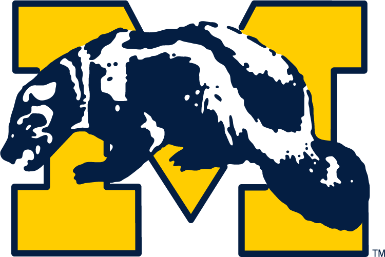 Michigan Wolverines 1964-1978 Primary Logo iron on sticker