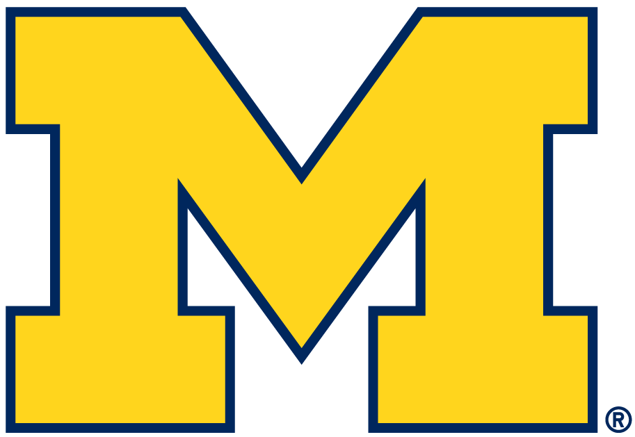 Michigan Wolverines 1996-2011 Alternate Logo iron on sticker
