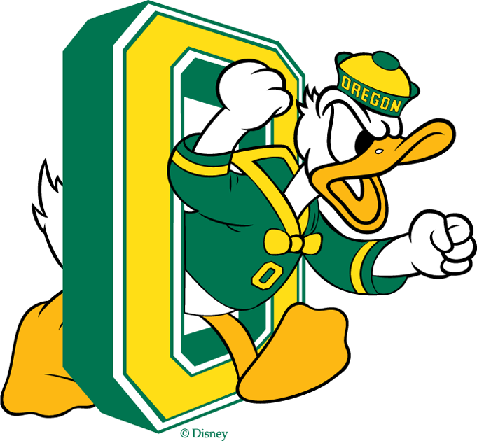 Oregon Ducks 1974-1993 Primary Logo iron on sticker